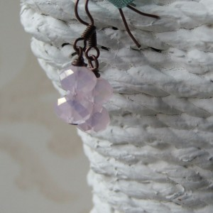 double small pink crystal copper