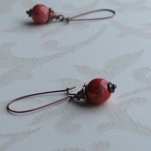 red bo christmas earrings