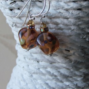 trudi amber earrings