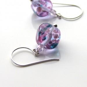 trudi pink frit earrings