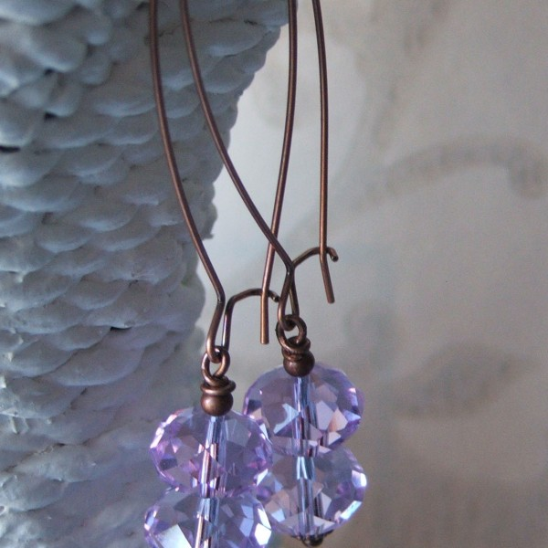 vintage double lilac crystal earrings1