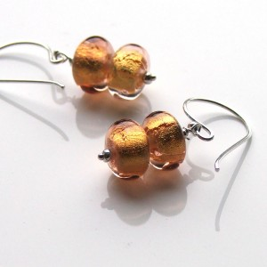 double golden lamps earrings