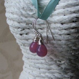gillian purple tear drop earrings