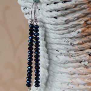 midnight sapphire earringss