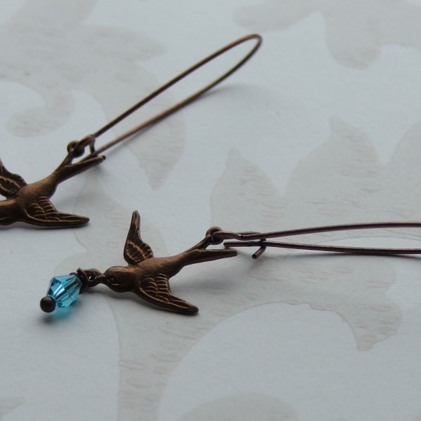 fly away earrings seamaidengems jewellery