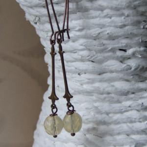 French Cream earrings seamaidengems jewellery1
