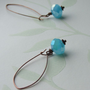 baby blue crystal earrings seamaidengems jewellery