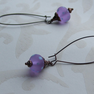 trudi purple spot earrings seamaidengems jewellery1