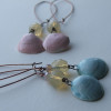 artwave blue and pink shell earrings