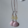 artwave pink ceramic shell earrings
