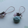 artwave round blue ceramic earrings1