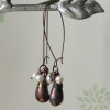 bronze blush earrings 1