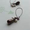 bronze blush earrings