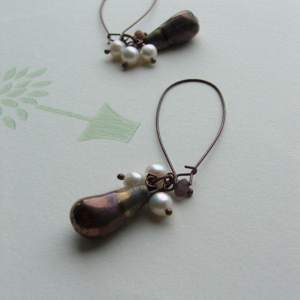 bronze blush earrings