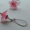 pink flower earrings1