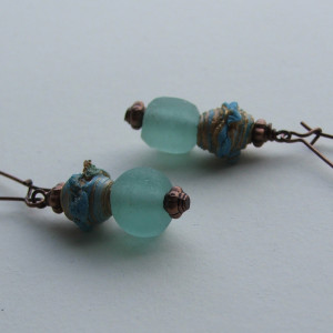 recycled glass earrings1