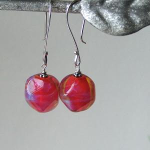red trudi earrings1
