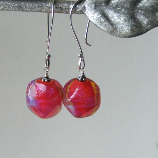 red trudi earrings1